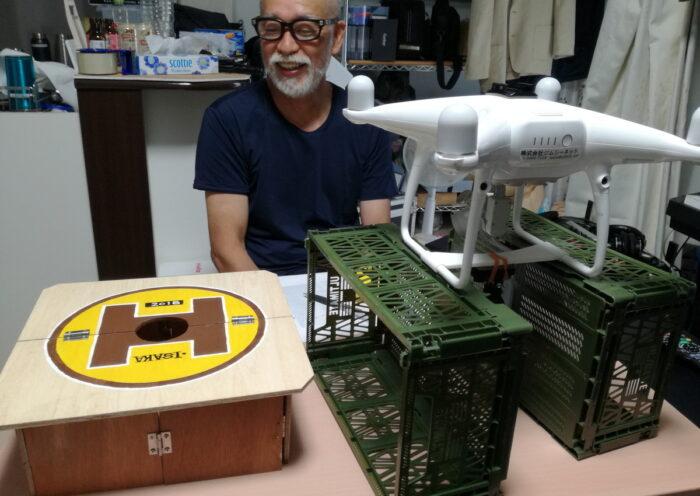 仙人制作のドローンポート試作機