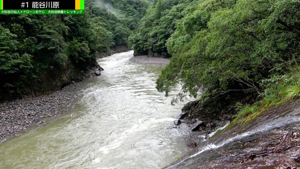 雨の日の川